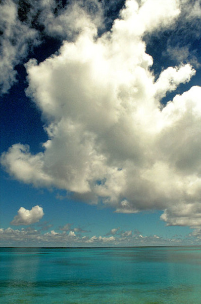 Lagoon and Clouds, Kwajalein, RMI © Sue Rosoff, all rights reserved : The Marshall Islands : Sue Rosoff Photography